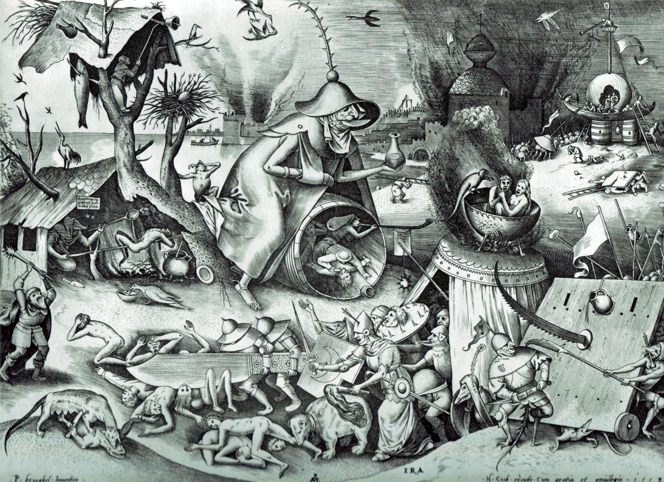 Pieter Bruegel the Elder: The Seven Deadly Sins or the Seven Vices - Anger