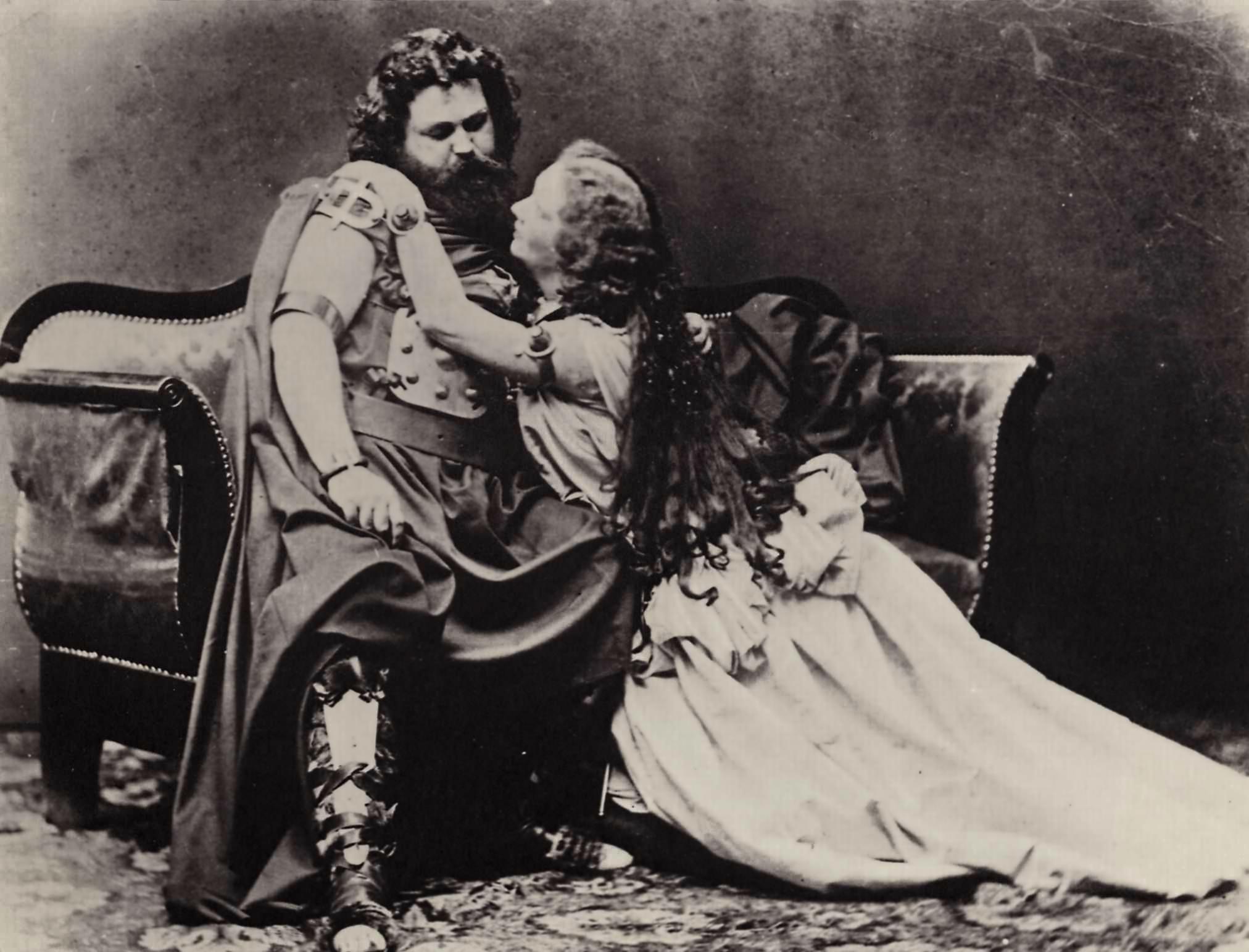 Ludwig Schnorr von Carolsfeld and his wife Malwina were Wagner's original Tristan and Isolde in 1865. Joseph Albert/Wikimedia Commons